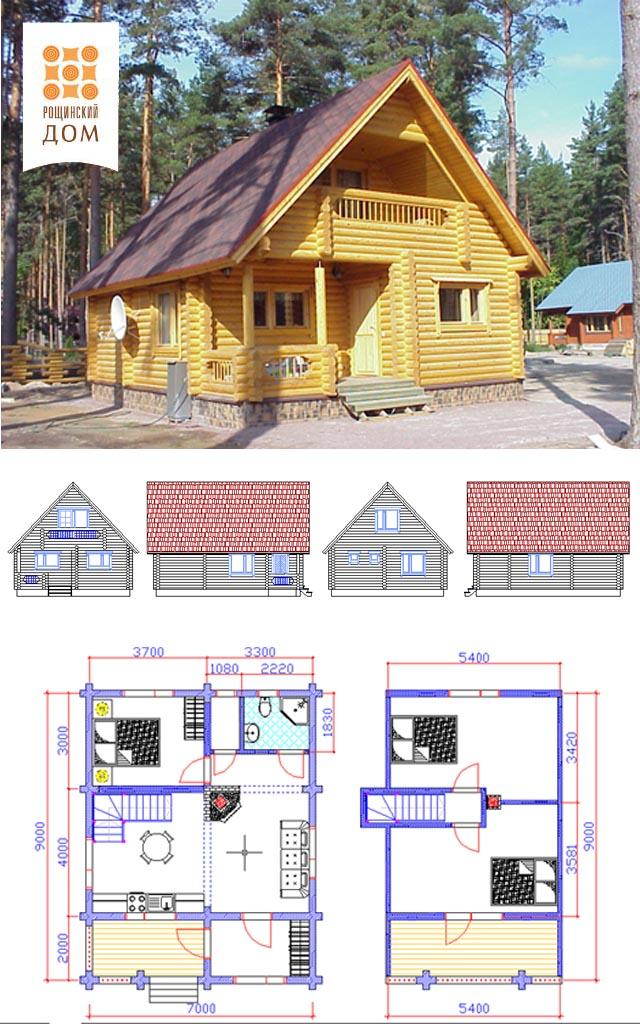 Проекты домов из бревна скачать pdf